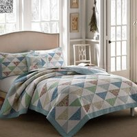 art comforters - 3pcs x275 quot Cotton Bedspread Unique Patchwork Art So So Soft Comforter Bedding set King Size Quilted Bedcover Pillowcase