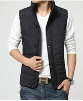 Wholesale Fall Zipper Snap Placket Winter Man Casual Vest Plus Size M XL Brand New Pocket Design Mandarin Collar Men Warm Waistcoat