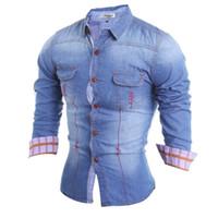 Wholesale Foreign trade autumn denim shirt Korean Jeans Jacket Mens slim tide surge