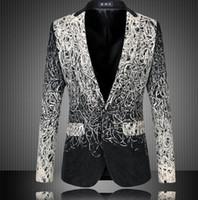 Wholesale Fashion Design Men Blazer Floral Suit Personality Casual Blazer For Men Blazer Slim Fit Jacket Men Plus Size XL XL