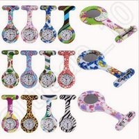 Wholesale Silicone Nurse Watch Medical Nurse Watch Printed Pattern Fob Quartz Watch Doctor Watch Pocket Medical Watch Designs CCA4381