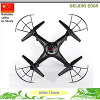 Wholesale Luxury X5SW WIFI RC Drone FPV Helicopter with HD Camera MP G Axis Real Time video recording RC Helicopter high quality