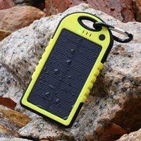 Cheap Portable Solar Power Bank 5000mAh 2 USB Port Waterproof Travel Charger Battery Solar Panel for Mobile Cell Phone Laptop Camera