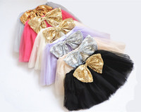 ballet tutu children - 2016 Top Quality candy color kids tutus skirt dance dresses soft tutu dress ballet skirt children gold silvery sequin bow pettiskirt clothes