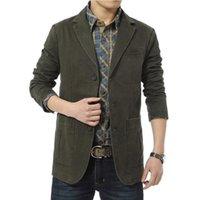 Wholesale 2016 New Autumn Spring Men Casual Blazers Cotton Denim Parka Men s slim fit Jackets Male Suite Army Green Khaki Big Size M XXXXL