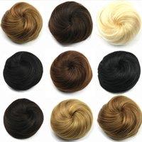 Wholesale 8 Colors Queen Women Braid Buns Donut Roller Chignon Hair Pieces11cm Brown Blond Black Perucas De Cabelo Updos
