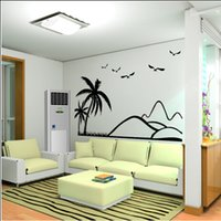 acrylic painting sky - 2015 Hot D Coconut tree Acrylic crystal wall stickers plant sticker for living room TV sofa backdrop decorative wall painting