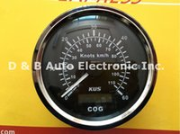 Wholesale 100 Brand New KUS mm GPS Speed Chart knots Speedometer Sea Mile For Boat Yacht With Light Black Color
