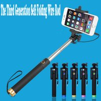 Wholesale Wire Remote Control Selfie Sticks Artifact Since The Shaft Rod Portable Telescopic Bracket For Universal