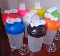 blender bottle - 14OZ Protein Shaker Bottles BPA Free Sports Water Bottles Fashion Creative Health Drinkware Plastic Blender Bottle