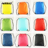 Wholesale Cheap Travel Bags For Men - Portable gym sack cheap polyester nylon drawstring backpack back bag for travel outdoor drawstring bag for books shoes