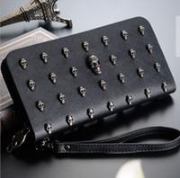 american standard korea - 2016 New Women Wallets Zipper Wallet Fashion Ladies Purse Female Clip Trend Korea Hand Bag Cute Skulls CrossBones Wallet