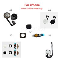 bar menus - For iphone S C S Home Button Assembly Flex Cable Ribbon Menu Replacement Repair Parts Black White Gold By DHL