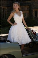 Cheap Deep V Neck Short Wedding Dresses Best Vintage Designer Wedding Dresses