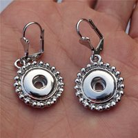 Wholesale 12pairs Fashion Women Noosa Chunks Metal Ginger mm Snap Button French Hook Earrings For Girls Jewelry