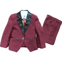 baby boy s cotton tuxedo - Boys Blazer suits Kids Tuxedo Rental Boys Wedding suits Kids clothes Baby autumn clothing sets Page boy Outfits Boys charcoal suit
