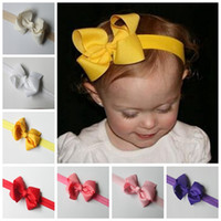 baby girl bows diy - baby Girl Hair Bow Headband DIY Grosgrain Ribbon Bow Elastic Hair Bands For Newborn Infant Toddler children Hair Accessories