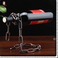 Wholesale Metal Wine Rack Magic Chain Wine Bottle Stand Holder Shelf Decoration Home Decor Creative Craft Accessory
