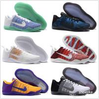 Cheap 2016 Kobe 11 XI Basketball Shoes Men 100% Original New Arrival Sneakers For Sale Cheap Retro Weaving KB11 Boots Size Eur 40-46
