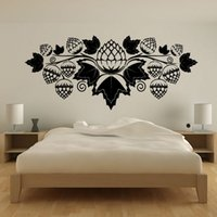 acorn for sale - Hot Sale PVC Waterproof Black Printed Hollow Out Acorn Wall Stickers Home Decor Bedroom With Leaf