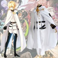 Wholesale Seraph Of The End Owari no Seraph Mikaela Hyakuya Uniform Cosplay Costume Full Set Cloak Top Shirt Pants Belt Accessories