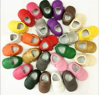 Wholesale baby first walkers shoes leather tassels moccasins soft leather Baby moccasins soft sole B543