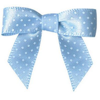 Wholesale 600pcs Pre blue colour satin Ribbon Gift Package Bow with Twist Tie DHL