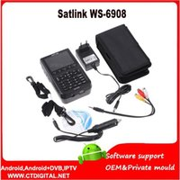 Wholesale Original Satlink WS inch LCD DVB S FTA Digital Satellite Signal ws satellite Finder Meter ws6908