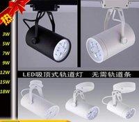 ac control switch - led track lighting fixture Black White W W W W W W W Led Track Light Led Ceiling Spot Lights AC V CE ROHS Ceiling lighting