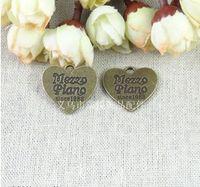 RYQY23 * charmes 21MM métalliques Pendentif Coeur Vintage main Accessoires bijoux bricolage gros boutique