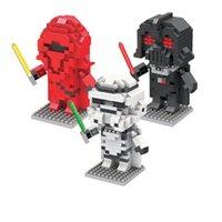 Wholesale Star Wars Blocks Cartoon Anime Minifigures for Children Building Bricks Block Red White Black Baby Kids Block Toys