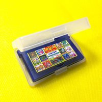 Wholesale New Plastic Clear Game Cartridge Cases Box Protector For Nintendo Game Boy GBA hot new
