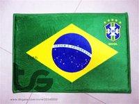 Wholesale Brazil National flag series mat D08035 Front door mat bathroom mat soft warm water absorption mat carpet CM