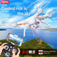 Wholesale drones with camea Original Drones SYMA X5SW WIFI Drone FPV Helicopter Quadcopter with HD Camera G Axis Real Time RC Helicopter Toy