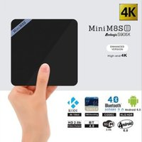 Wholesale Mini M8SII II Android TV Boxes Set top Boxes Amlogic S905X Quad Core WiFi Bluetooth GB GB Smart Media Players