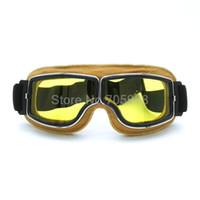 NUEVOS vidrios retros de los deportes al aire libre de los vidrios del casco del aviador de la vespa del vuelo de la moto de los anteojos de la motocicleta de la vendimia