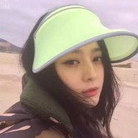 Wholesale New Summer Beach Sun Hats For Women Chapeu Feminino New Fashion Outdoors Visors Cap Sun Collapsible Anti uv Hat colors
