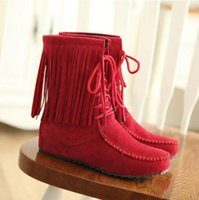 animations booties - Hot sale brand new New Womens Boho Faux Suede Lace up Fringe Oxfords Moccasin Boots Ankle Booties