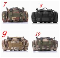 army tactical gear - Camouflage Army Multi Function P Backpacks Climbing Outdoor Adventure Tactical Gear Water Resistance Camo black Waist bag Colors