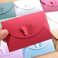 Wholesale Envelopes Butterfly Buckle Mini Envelopes PEPA Paper Vintage Romantic Paper Envelopes Christmas Gift