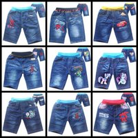 Wholesale Summer boys shorts Turtles spiderman cars my little pony cartoon kids jeans children shorts denim pant trousers