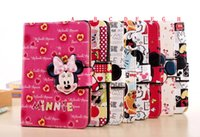 apple smart mouse - Cartoon Smart Leather Case Stand Pouch For Ipad Mini mini4 quot tablet Cute Mickey Minnie Mouse Fashion Soft TPU Skin Cover Luxury