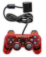 Wholesale DHL Analog Wire Controller Shock for Sony PlayStation PS2 Red