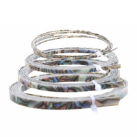abalone guitar binding - Cool Guitar Parts Celluloid Guitar Binding Body project Purfling Strip x6 x1 mm Abalone Pearl