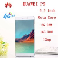 Wholesale Newest Huawei P9 Phone quot HD P Dual SIM Cell Phone GB RAM GB ROM MP Android G Unlocked Cell Phone with gifts