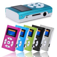 Wholesale 100 brand usb mini clip mp3 player LCD screen card support gb micro sd tf digital mp3 players