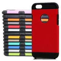 al por mayor cubierta delgada iphone5-Para la caja delgada resistente de la armadura del caso del iPhone 7 de Hybrid 2 en 1 TPU + PC Cubierta de la caja de la armadura de Colorfull con el bolso de Opp para Iphone5 / 5s / 5se / 6 / 6s / 6plus