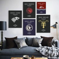 Wholesale Game Of Thrones A4 Movie TV Poster Vintage Wall Art Canvas Prints Living Room House Pictures Painting Modern Home Decor No Frame