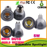 down light mr16 - Dimmable CREE GU10 MR16 E27 GU5 cob Led Bulb Light W Led Spot Bulbs down lights Lamp AC85 V V