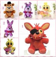big five animals - 100pcs Five Nights at Freddy Bear Rabbit Bonnie Fox Duck Stuffed Plush Animals Dolls game Plush Soft Toys